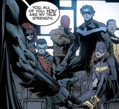 Batfamily in Batman #18 - David Finch, Inks: Danny Miki, Colors: Jordie Bellaire