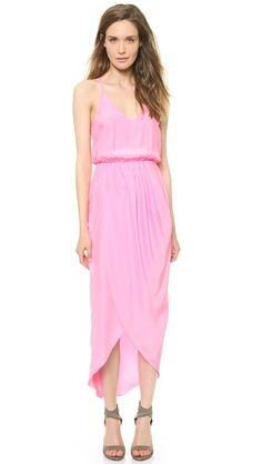 Amanda Uprichard CRICKET MAXI DRESS  **could hem plain maxi dress like this and drape the rest to give it the crossed over look?