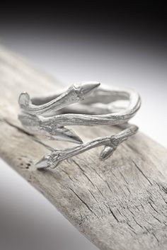 Elvish Twine ring sterling silver twig stacker  RedSofa by redsofa, $80.00