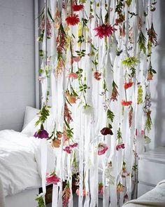 floral room divider.