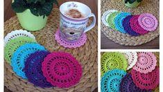 Návod na háčkování prostírek Coasters, Crochet Earrings, Diy, Crochet Ideas, Crocheting, Tricot, Crochet Hooks, Ganchillo, Bricolage