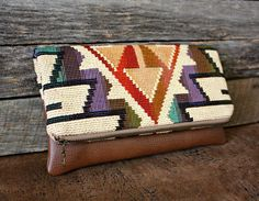 Navajo Southwestern Foldover Clutch / Kindle Case by SweetPeaTotes