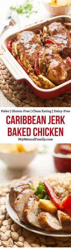 This easy baked Paleo jerk chicken recipe is easy to make and you can do whatever you want while it bakes in the oven. {Paleo, Gluten-Free, Clean Eating, Dairy-Free}