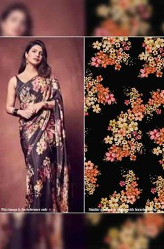 The Colour Of Spring, Trendy Sarees, Silk Cotton Sarees, Celebrity Look, Look Alike, Types Of Art, Digital Pattern, Silk Satin, Party Wear