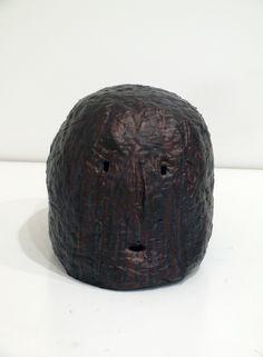 Graham Fletcher, 2014, Untitled (Head 4), ceramic and acrylic, 240 x 230 x 300mm