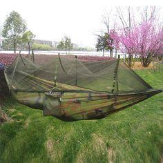 Ultraligero Acampar Al Aire Libre Caza Mosquitera Paracaídas Hamaca Hamaca 2 Persona Flyknit Jardín Hamak Colgando Cama Ocio Hamaca