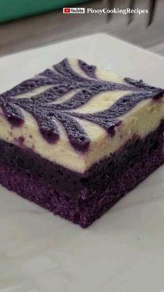 Ube Cheesecake Recipe, Ube Dessert Recipe, Easy Cheesecake Recipes, Dessert Recipes, Filipino Desserts, Asian Desserts, Just Desserts, Easy Filipino Recipes, Candy
