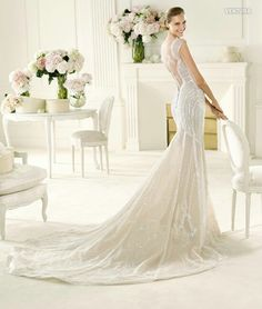 Pronovias. This might be the most beautiful wedding dress I've ever seen.