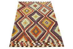 83 x 51 Feet Mother's Day Gift Turkish Kilim Rug by ANATOLIANRUGS