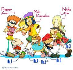 Kids next door and pepper ann Cartoon Games, Cartoon Tv, Cartoon Shows, Cartoon Styles, Pepper Ann, Cn Cartoon Network, Loud House Characters, Cartoon Crossovers, 90s Cartoons