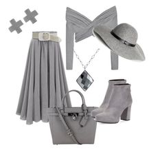 Designer Clothes, Shoes & Bags for Women Daily Fashion, Fashion Sets, Womens Fashion, Grey Outfit, Heather Gray, Rick's Cabaret, Polyvore Fashion, Style Me, Strip Clubs