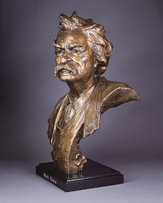 Mark Twain Bust by Sculptor, Gary Lee Price. Please visit us at garyleeprice.com