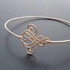 Swirl Bangle Bracelet Emma Gold Swirl Bracelet by FrostedWillow, $14.95