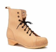 Swedish Hasbeens Boot Nature Lace up Bootie Boot Size 38 Made in Italy $ 350 NIB #SwedishHasbeens #FashionAnkle #Casual