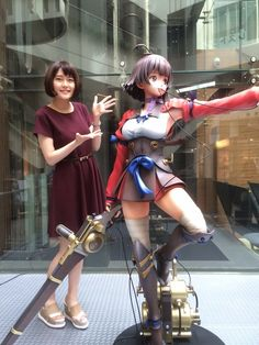 "The life-size prototype figure of Kabaneri of the Iron Fortress' Mumei was unveiled in color at the ""Kabaneri & Battery Exhibition ~ Sanshin Mokuhyō de. School Girl Outfit, Girl Outfits, Cute Girls, Cool Girl, Iron Fortress, Anime News Network, Anime Figurines, Good Smile, Anime Life"