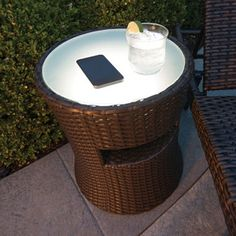 Speaker Side Table With LED Light, Wireless Bluetooth Connectivity   $129.98