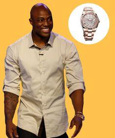 Denver Broncos football star DeMarcus Ware's Rolex Sky-Dweller.