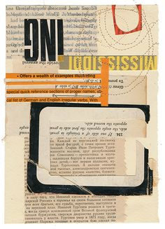 """A Wealth 7 x 5"""" book collage on paper"""