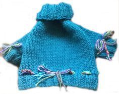 Small Dog Clothes Petrol Blue Dog sweater by JackBentleyKnitwear