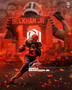 Football Poses, Nfl Football Players, Football Pictures, Football Hits, Nfl Browns, Cleveland Browns Football, Odell Beckham Jr Catch, Odell Beckham Jr Wallpapers, Cleveland Browns Wallpaper