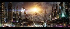 quarkmaster:   Futuristic Cities   Scott Richard - is it 1984 already?