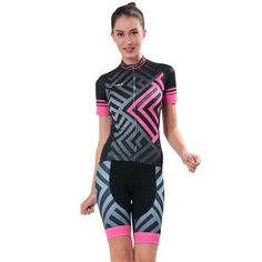 Women's Short Sleeved Cycling Jersey with Shorts