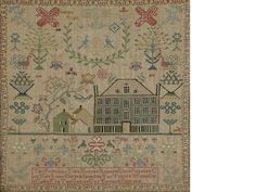 A late 18th / early 19th century needlework sampler by Jemima Ried