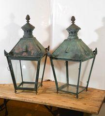 Pair French Copper Lanterns thumbnail 2