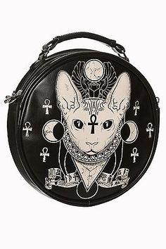Banned Gothique Goth Punk occultisme Portefeuille Porte-monnaie Portefeuille Anubis egyptian