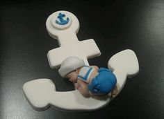 Fondant Edible Baby Anchor Sailor Cake Toppers Favors Decorations Baby Shower | eBay