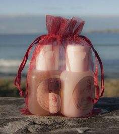 Facial Rejuvenation Pack - Cream Cleanser, Gel Toner and mini Rejuvenating Oil - lovely idea for Christmas gifts in a reusable red organza bag :) Christmas 2015, Christmas Gifts, Facial Rejuvenation, Cocoa Butter, Body Butter, Organza Bags, Cleanser, Skin Care, Oil