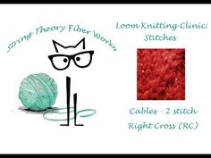 (2) Loom Knitting Clinic: Stitches - Cables - Right Cross (RC) - 2 Stitch - YouTube Loom Knitting Stitches, Knitting Patterns, Lion Brand, Drops Design, Garter Stitch, Baby Booties, Cool Patterns, Clinic, Ravelry