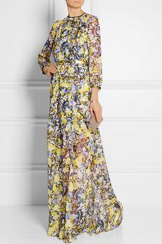 Erdem|Lamara floral-print silk-chiffon gown|NET-A-PORTER.COM