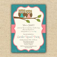 Gender Reveal Invitations