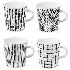 I pinned this Design House Stockholm 4 Piece Bono Mug Set from the Artist's Loft event at Joss and Main!