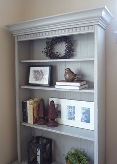 Refinished gun cabinet with added crown molding