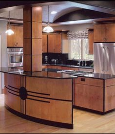 Art Deco design kitchen This could be for SUE! Art Deco Decor, Art Deco Stil, Art Deco Home, Art Deco Design, Home Design, Küchen Design, Interior Design Kitchen, Design Ideas, Arte Art Deco