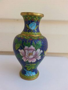 6 Inches Tall Gold Enamel Provided Czech Vase Opalescent Milk Glass