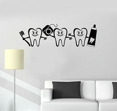 Find many great new & used options and get the best deals for Vinyl Wall Decal Healthy Teeth Bathroom Dental Care Dentist Decor Sticker ig5222 at the best online prices at eBay! Free shipping for many products!