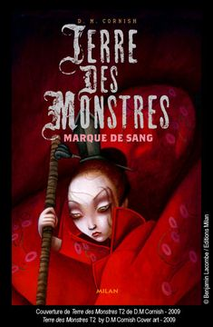 "Benjamin Lacombe - Cover-art of ""Terre des Monstres - Marque de Sang"" by D. M. Cornish"