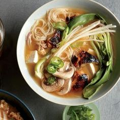 Chicken-Bok Choy Noodle Bowls | CookingLight.com #myplate #veggies #wholegrain