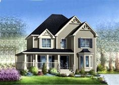 Elevation of House Plan 52694