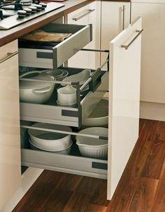Greenwich Gloss Cream Kitchen Range | Kitchen Families | Howdens Joinery