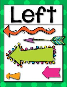 Left and Right {Posters/Signs} for the Primary Classroom. $