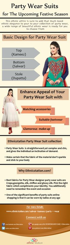 Party Wear Suits For Upcoming Festive Season Get Exclusive Party Wear Suits For Upcoming Festive Season From EthnicStation- Leading Women's EthnicWear Retailer In India. Buy Now -http://www.ethnicstation.com/salwar-kameez/party-wear-suits