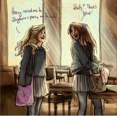 Luna & Ginny. Fan Art