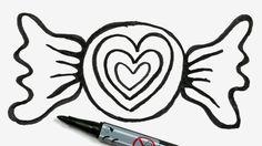draw easy candy valentine cartoon doodles children doodle valentines gemerkt von