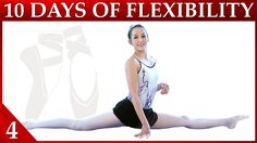 In day 4 of our 10 Day Ballet Flexibility Workout Challenge Catherine takes you through simple stretches and workouts to get your splits and backbend.