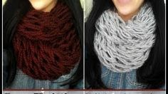 Thumbnail Arm knitting Infinity Scarf. 30 minutes.