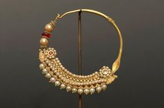 Indian Jewellery and Clothing: Indian nose rings or nathu..